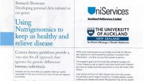 University of Auckland – Nutrigenomics